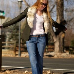 Ann Taylor Loft  Faux Fur Collar Blazer. Sz 8